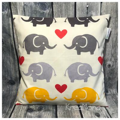 Zirbenkissen Elefant gelb/grau