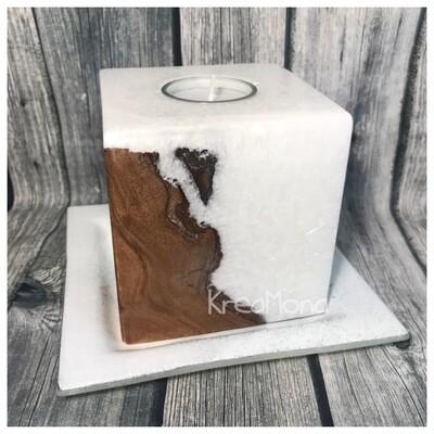 Kristall Holz Würfel