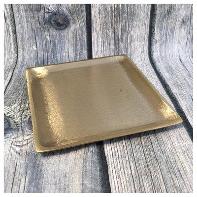 Teller gold 11x11cm