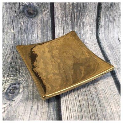 Teller gold 9x9cm