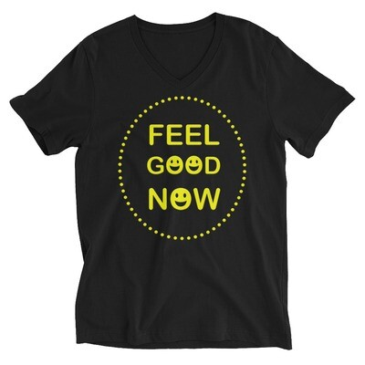 FEEL-GOOD-NOW Unisex Short Sleeve V-Neck T-Shirt