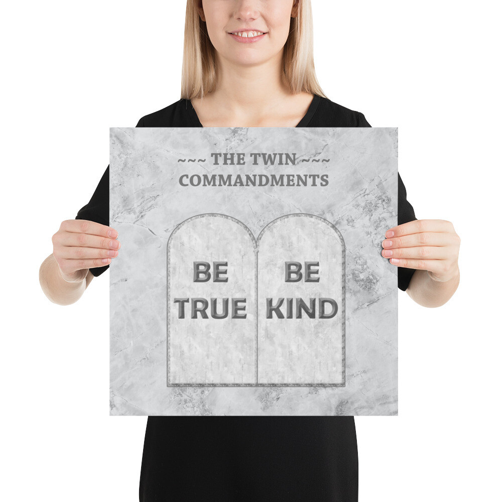 THE TWIN COMMANDMENTS Poster