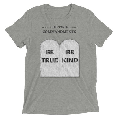 THE-TWIN-COMMANDMENTS Tri-Blend Short sleeve T-shirt
