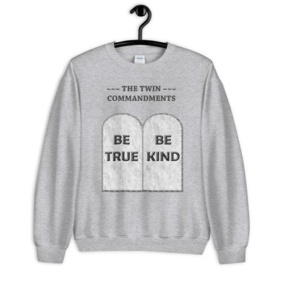 THE-TWIN-COMMANDMENTS Unisex Sweatshirt
