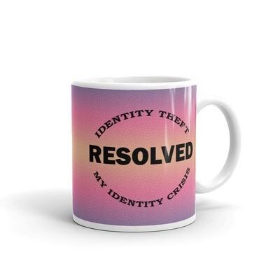 IDENTITY THEFT White glossy mug