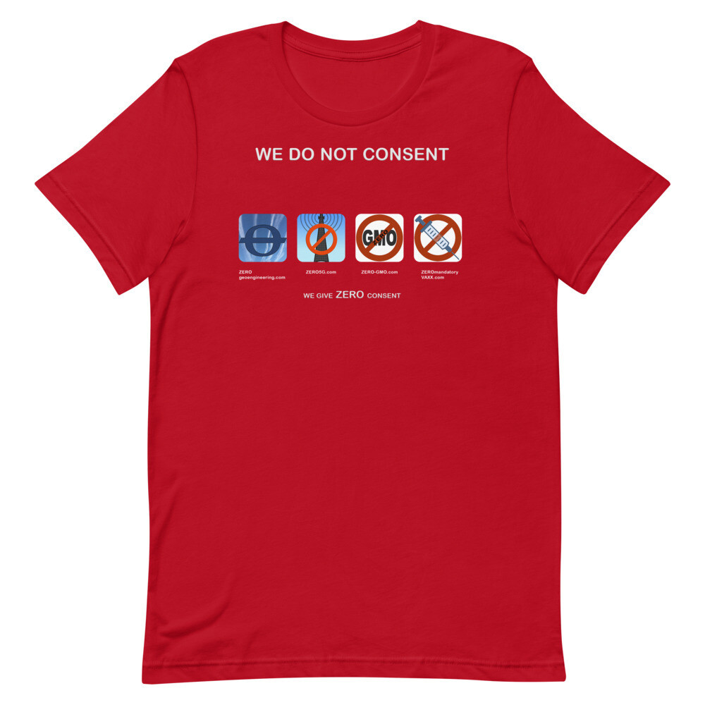WE DO NOT CONSENT Z-sites 4x1 Short-Sleeve Unisex T-Shirt