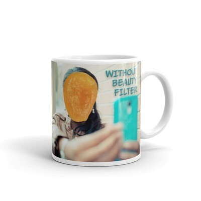 BEAUTY-FILTER-SELFIE White glossy mug