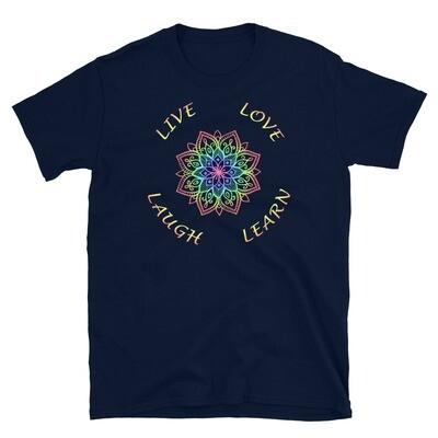LIVE LOVE LAUGH LEARN Mandala Unisex Basic Softstyle T-Shirt