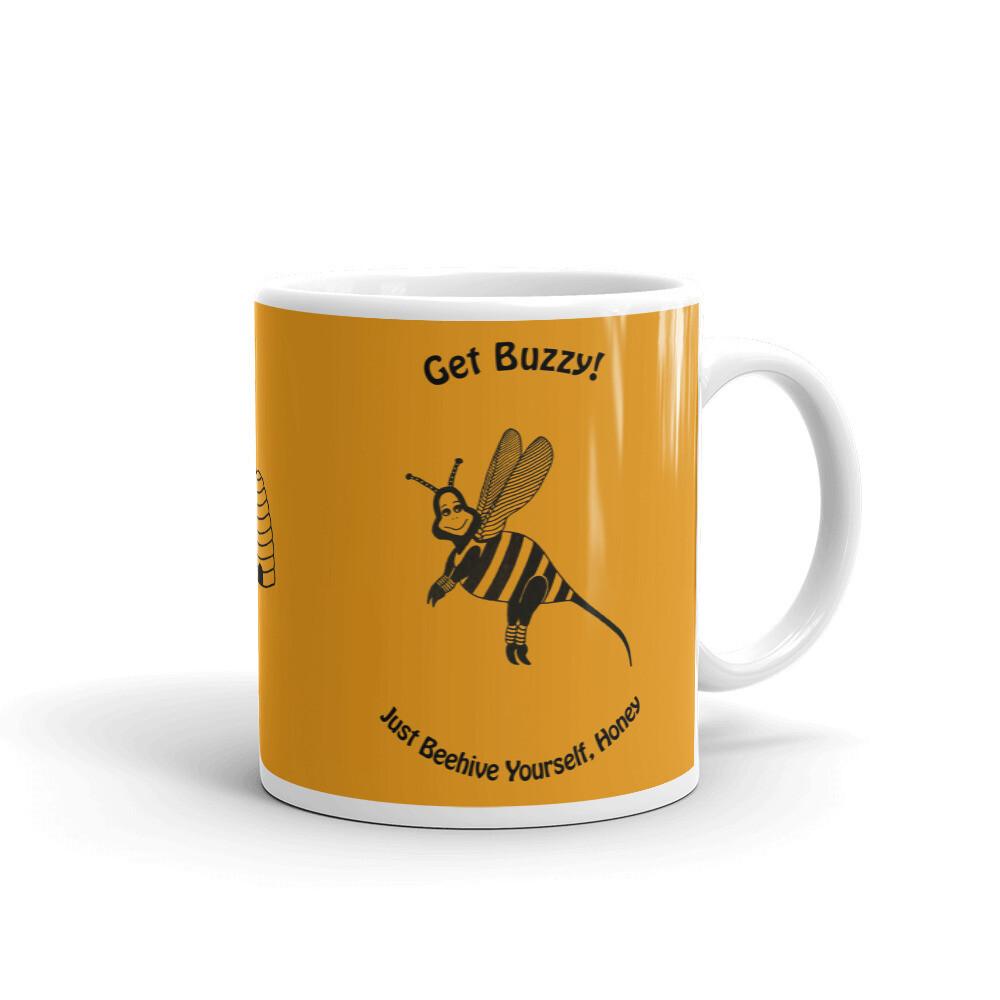 GET BUZZY BEE White glossy mug