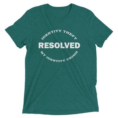 IDENTITY THEFT Tri-Blend Short Sleeve T-shirt