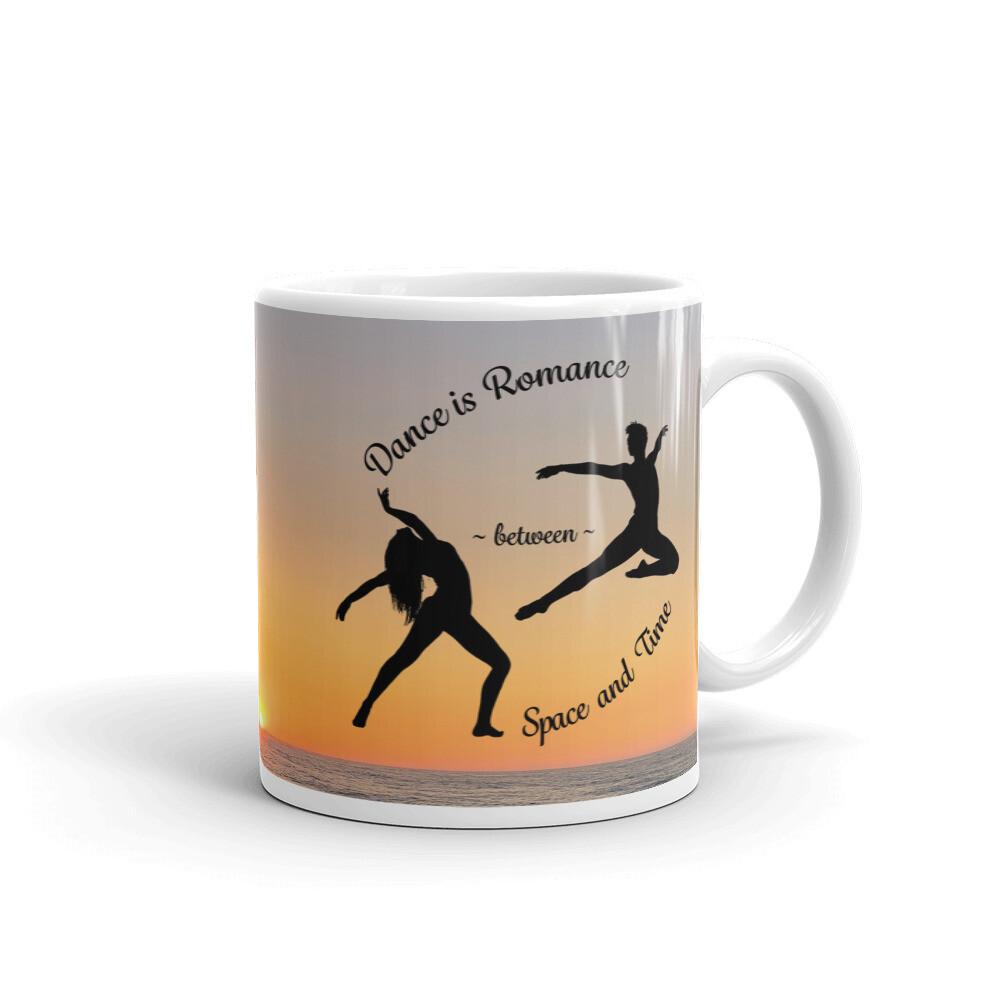 DANCE-IS-ROMANCE White glossy mug