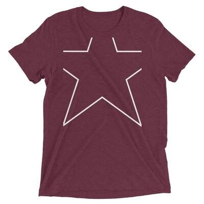 Clipped Star Unisex Tri-Blend T-Shirt