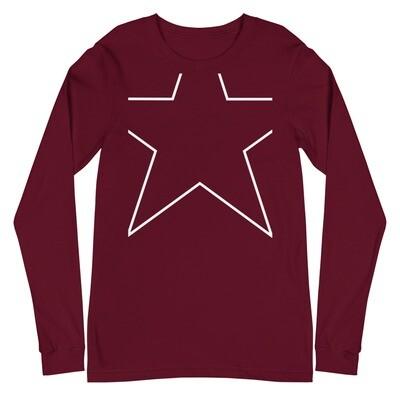 Clipped Star Unisex Long Sleeve Tee