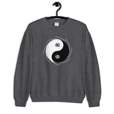BINGE-PURGE-Yin-Yang Unisex Sweatshirt