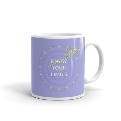 GROW-YOUR-LIMITS White glossy mug