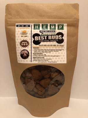 Best Buds CBD Chedder Pet Treats - heart-shaped - Gluten-Free/Grain-Free