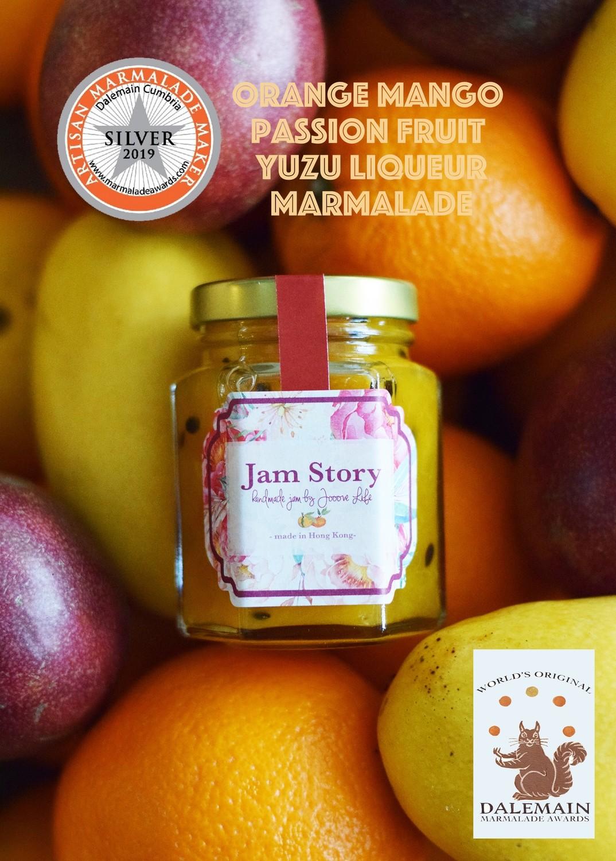 【2019 世界柑橘果醬大賽 - 銀獎果醬】香橙芒果熱情果柚子酒果醬 Orange Mango Passion Fruit Yuzu Liqueur Marmalade