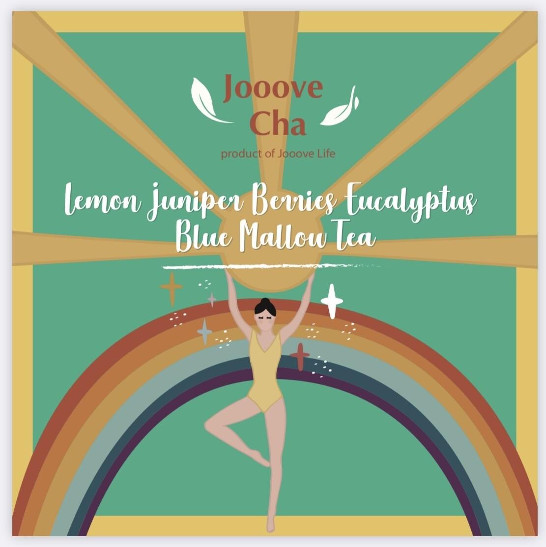 檸檬杜松莓尤加利葉紫蘿蘭花茶 Lemon Juniper Berries Eucalyptus Blue Mallow Tea