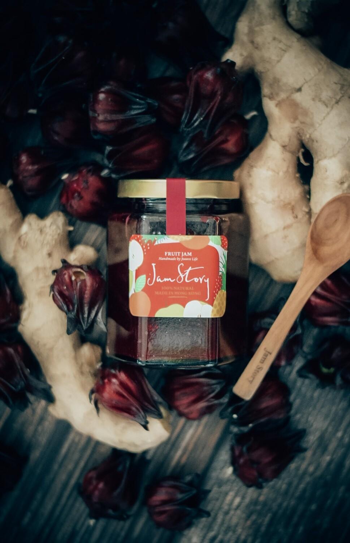 本地洛神花老薑蜂蜜茶  Local Organic Roselle Ginger Honey Tea (280g)