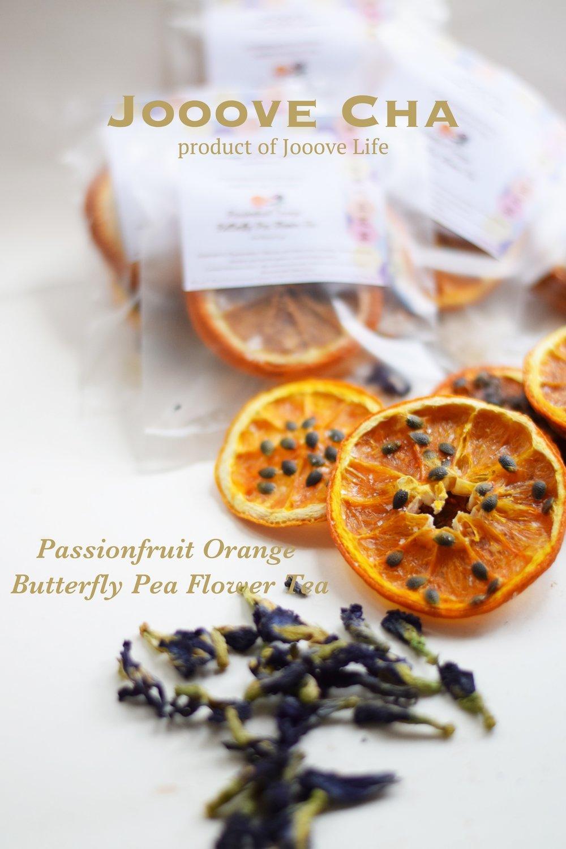 熱情果香橙蝶豆花茶 Passionfruit Orange Butterfly Pea Flower Tea