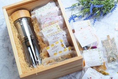 Jooove Cha 玻璃水樽+20包美顏排毒花果茶 (木盒裝) (原價$550)