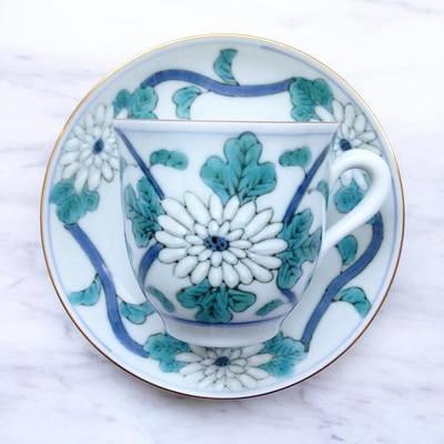 日本手繪茶杯碟