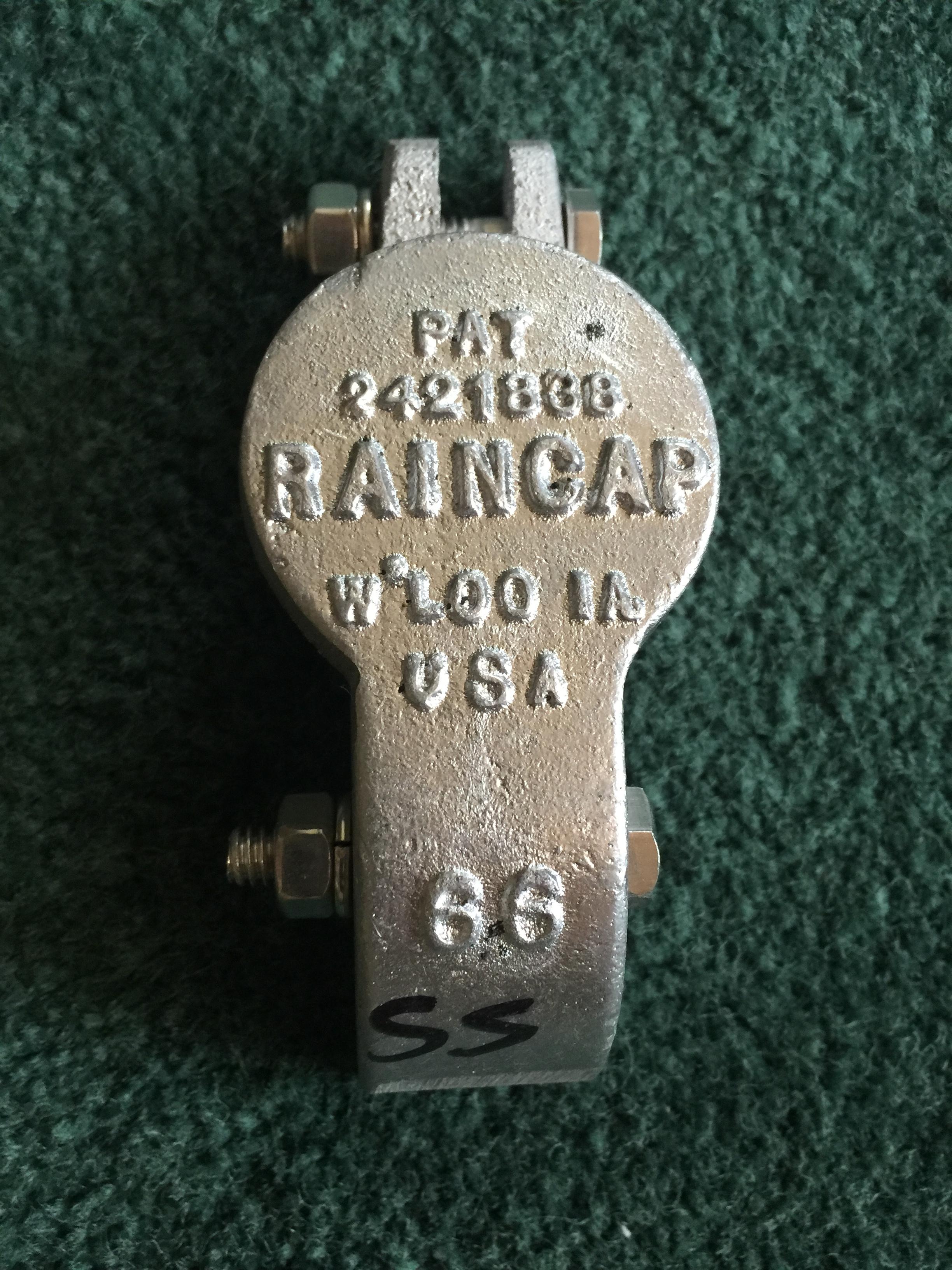 """#66 - 1-3/8"""" RAINCAP"""
