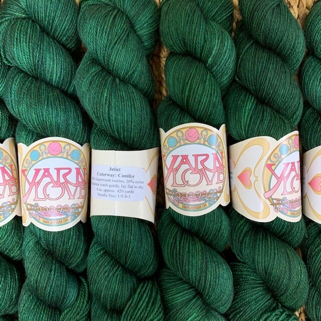 Yarn Love Juliet  Fingering Conifer