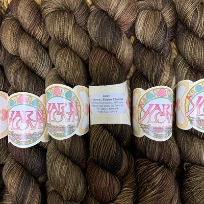 Yarn Love Juliet  Fingering Belgian Chocolat