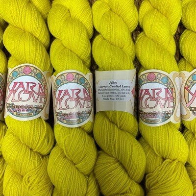 Yarn Love Juliet  Fingering Candied Lemon