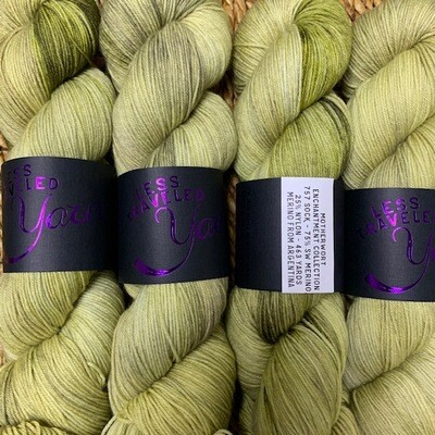 Less Traveled Yarn Fingering Sock MOTHERWORT