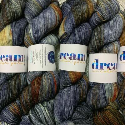 Dream in Color  Yarn Leather Wave smooshy sock