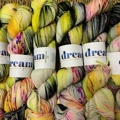 Dream in Color Yarn Uptown Electric  smooshy sock