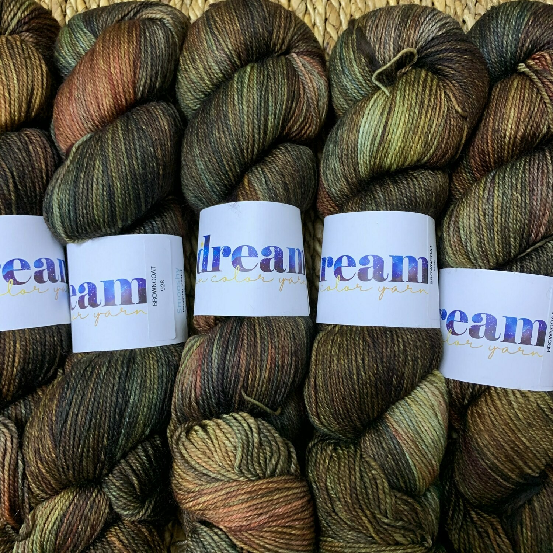 Dream in Color Yarn Browncoat  smooshy sock