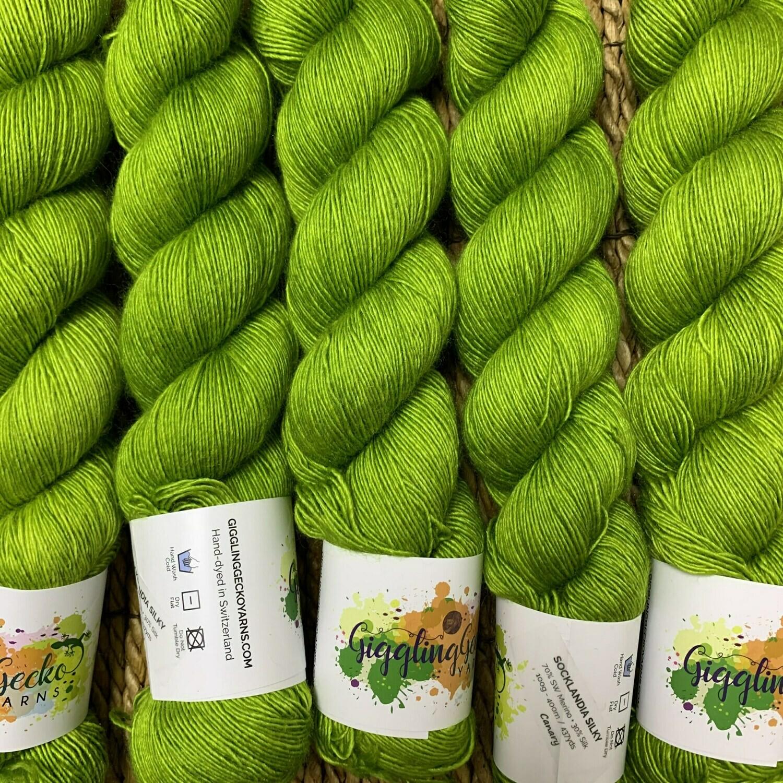 GGY GigglingGecko Socklandia Silky Yarn Canary