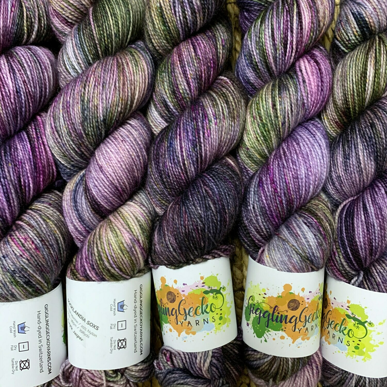 GGY GigglingGecko Socklandia Soxs Yarn Purple Jasper