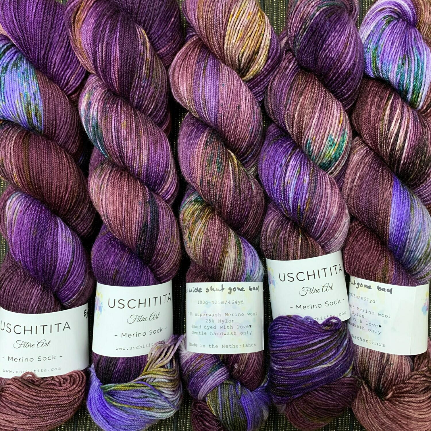 Uschitita Sock Yarn Eyes wide shut gone bad