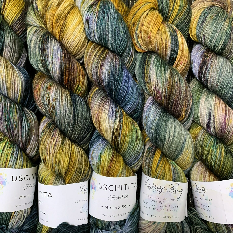 Uschitita Sock Yarn Vintage Rug