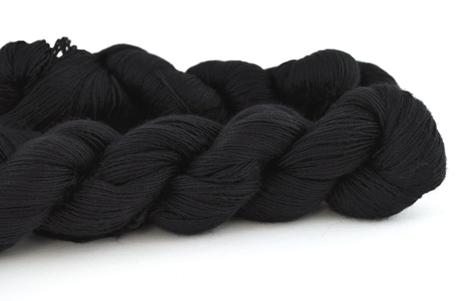 Malabrigo Hand dye Lace Yarn Black #195