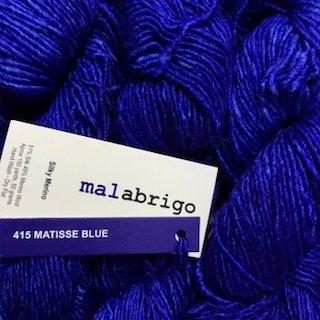 Malabrigo Silky Merino Matisse Blue #SM415