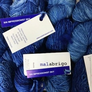 Malabrigo Hand dye Mechita Yarn Impressionist Sky #806