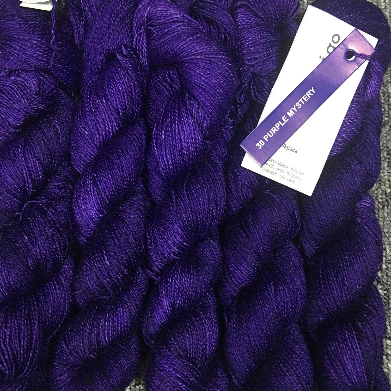 Malabrigo Silkpaca Purple Mystery #30