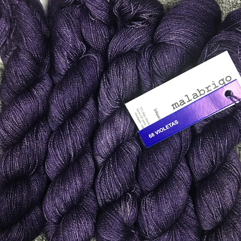 Malabrigo Silkpaca Violetas  #68