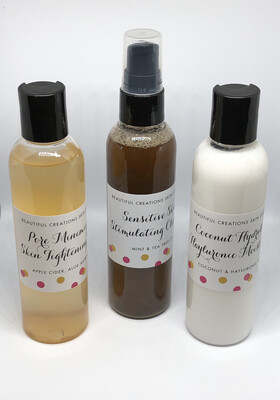 Beautiful Creations Skin Essentials  3pc. System Travel Size 2oz. (1 Month Supply)