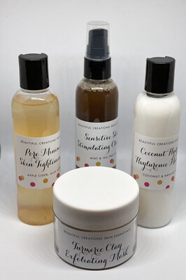 Beautiful Creations Skin Essentials 4pc. System 4oz. (2-3 Months Supply)