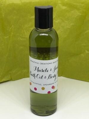 4oz. Muscle & Joint Bath Oil & Bath Gel Soak