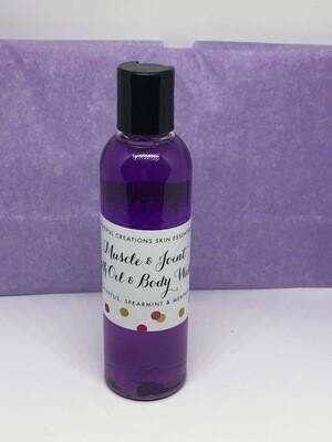 4oz. Muscle & Joint Bath Oil & Bath Gel Soak Lavender, Vanilla & Chamomile