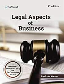 Legal Aspects of Business by Ravinder Kumar