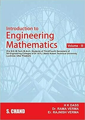 A Textbook Of Engineering Mathematic Vol 3 by H. K Das
