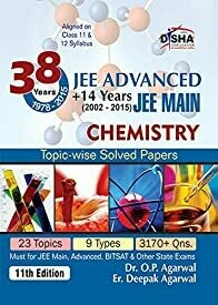 38 Years IIT-JEE Advanced + 14 yrs JEE Main Topic-wise Solved Paper Chemistry (Old Edition)